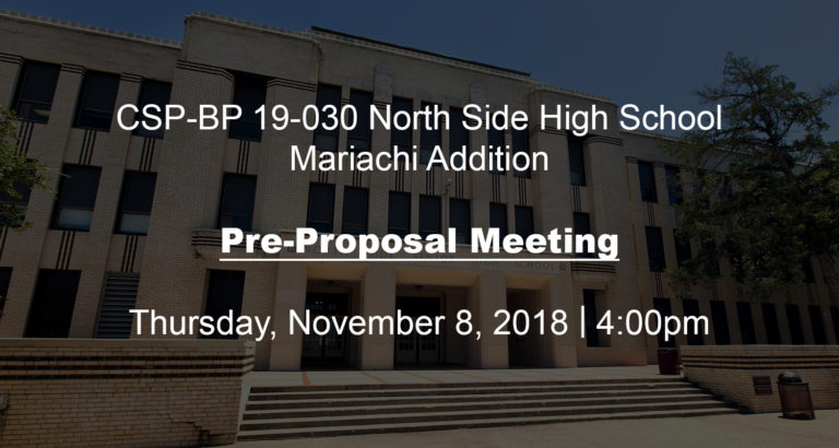 BID OPPORTUNITY: PRE-PROPOSAL MEETING image 0