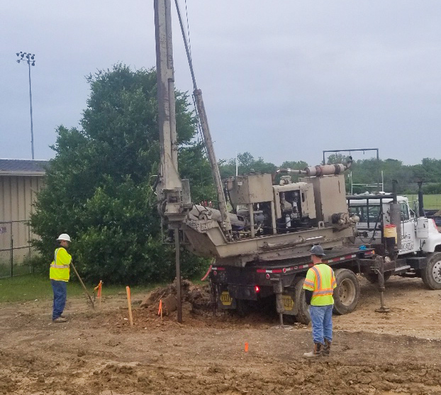 Drilling for a foundation image 0