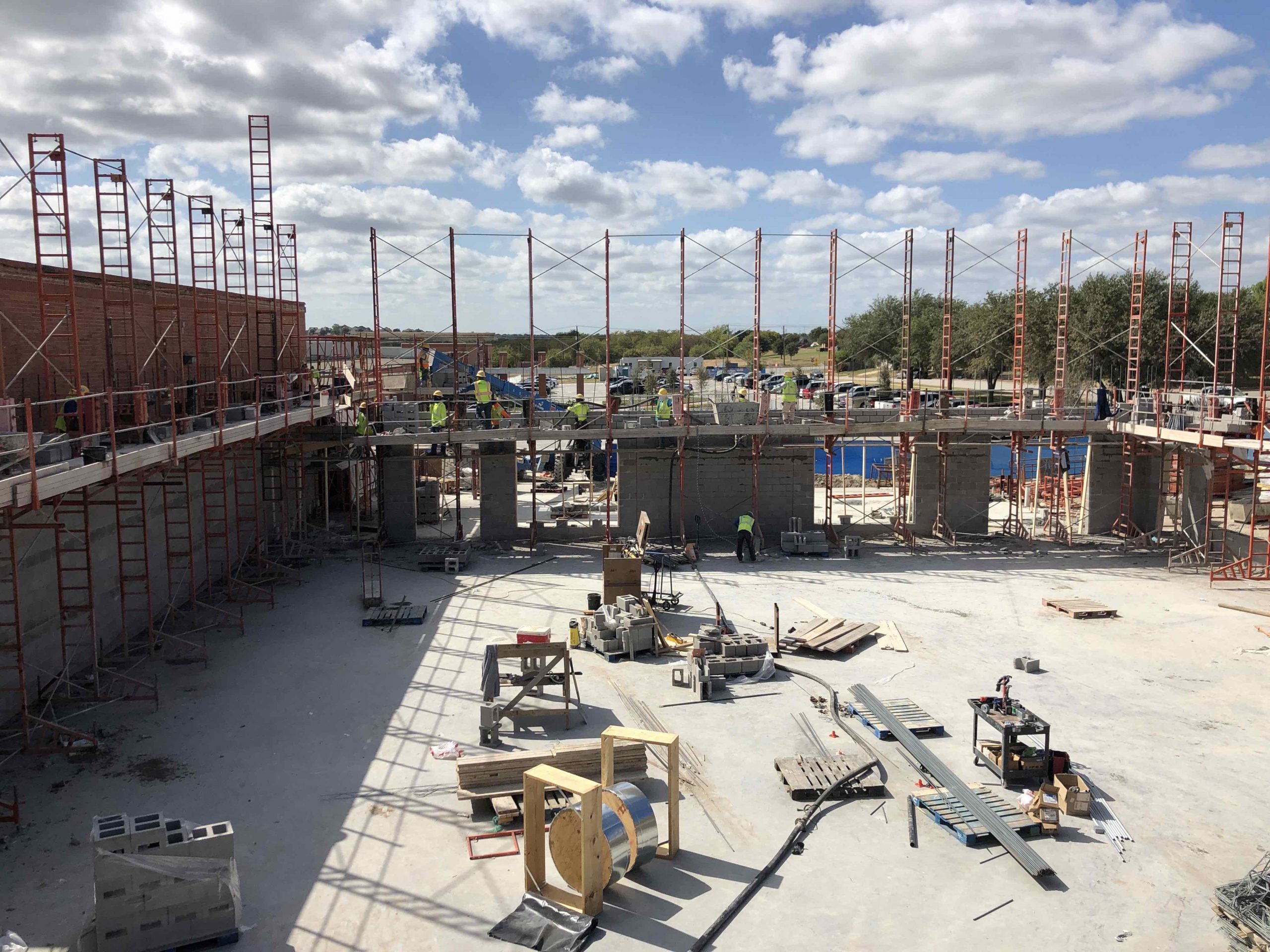 CMU Walls are Going Vertical! image 1